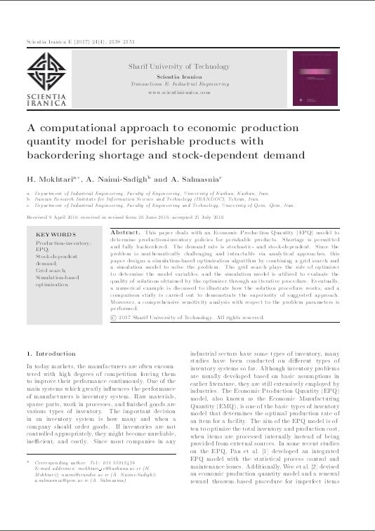 A Computational Approach to Economic Production Quantity Model for Perishable Products with Backordering Shortage and Stock-Dependent Demand