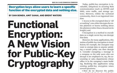 رمزگذاری تابعی: دیدگاهی جدید در رمزنگاری کلید عمومی