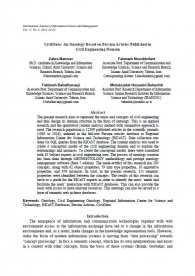 CivilOnto: An Ontology Based on Persian Articles Published in Civil Engineering Domain