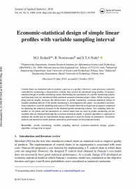 Economic-statistical design of simple linear profiles with variable sampling interval