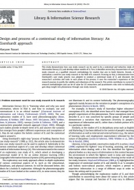 Design and process of a contextual study of information literacy: An Eisenhardt approach