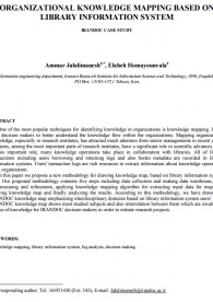 Organizational knowledge mapping based on library information system: IRANDOC case study