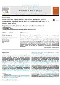 What motivates high school teachers to use web-based learning resources for classroom instruction? An exploratory case study in