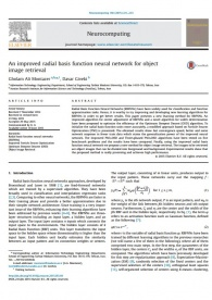 An improved radial basis function neural network for object image retrieval