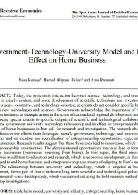 Government-Technology-University Model and Its Effect on Home Business