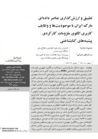 تطبیق و ارزشگذاری عناصر دادهای مارک ایران با موجودیتها و وظایف کاربری الگوی ملزومات کارکردی پیشینههای کتابشناختی