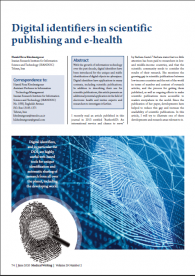 Digital identifiers in scientific publishing and e-health