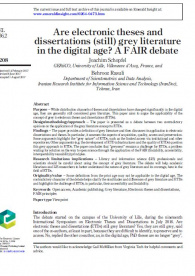 Are electronic theses and dissertations (still) grey literature in the digital age? A FAIR debate