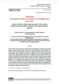 Green Supply-Chain Management And Green Purchase Intention, The Role Of Green Brandequity
