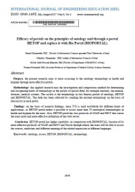 Efficacy of portals on the principles of ontology and through a portal HETOP and replace it with Bio Portal (BIOPORTAL)