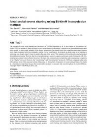 Ideal social secret sharing using Birkhoff interpolation method