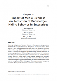 Impact of Media Richness on Reduction of Knowledge-Hiding Behavior in Enterprises