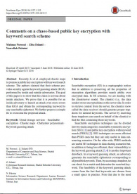 Recently, Li et al. employed chaotic maps to propose a public key encryption with keyword search scheme. The authors claimed that their scheme provides security against keyword guessing attack (KGA) performed by inside and outside adversaries. The goal of this paper is to show that this claim is not true about inside attackers. We prove that it is possible for an inside adversary to launch an attack even more severe than KGA and obtain the corresponding keyword to any searchable ciphertext. We further propo