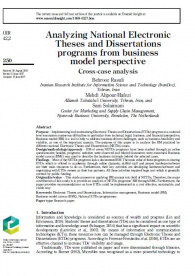 Analyzing National Electronic Theses and Dissertations programs from business model perspective: Cross-case analysis