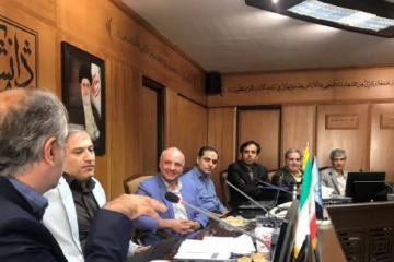 جلسه شورای پژوهشی دانشگاه شهید بهشتی با حضور نمایندگان ایرانداک