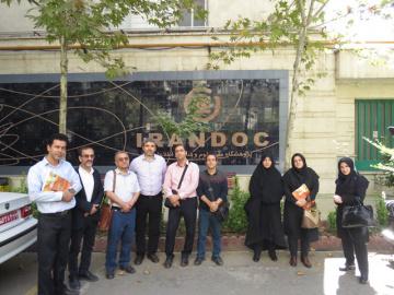 مدیران و کارشناسان مرکز پژوهش کتابخانه مجلس شورای اسلامی از ایرانداک بازدید کردند